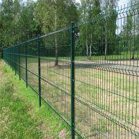 厂家供应 道路绿色围栏网 铁丝浸塑双边丝围栏网