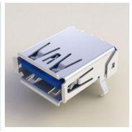 UEA1112C-4HK1-4H,FOXCONN USB3.0单层,9P,90度直插,富士康