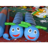 儿童趣味运动会器材充气毛毛虫竞走幼儿园户外活动游戏道具愤怒的小鸟厂家直销 可租赁