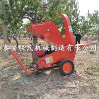 花卉苗圃果园专用移动式汽油柴油树枝粉碎机 188F树枝粉碎机价格