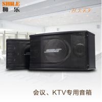 专业定制家庭ktvBX-118 家用卡拉OK全频音响 木制黑色