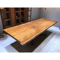 厂家直销乌金木实木办公会议桌283长105宽 原木大板茶台画案