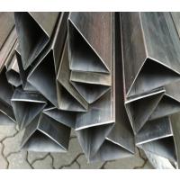 201 304 316不锈钢异型管 抛光花纹管 镜面扁管 定制切割