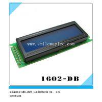 蓝屏 1602DB 兰屏LCD液晶屏 蓝色 5V 白字体 带背光LCD1602