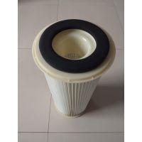锐克牌替代日本AMANO安满能滤芯白色带内胆塑料端盖除尘滤芯滤筒厂家