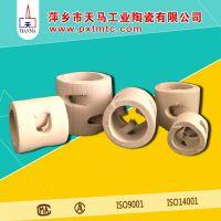 天马陶瓷直销优质耐高温塔填料 陶瓷鲍尔环填料