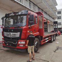 东风牌挖机拖车排量多种供选L可拉25吨的后八轮平板拖车