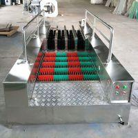 厂家直销工矿机械式全自动双通道洗靴机 板刷洗靴机专为煤矿打造