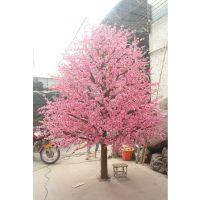 广州松涛仿真桃花树 人造仿真树叶塑料花树叶定做