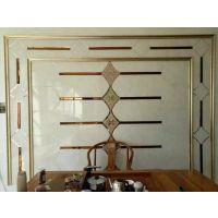 【焕彩】艺术玻璃客餐厅电视沙发拼镜菱形黑茶灰镜银色镜子背景墙