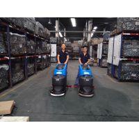 青岛工厂地坪漆地面保洁用容恩R50B手推式洗地机