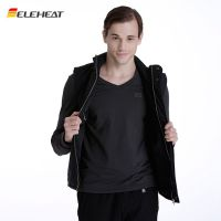 L/M美式休闲直筒型发热服背心电热马甲拉链ELEHEAT