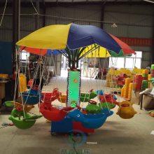 秋千飞鱼椰子树儿童游乐设备