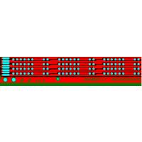 led超窄超薄灯带线路板 沙盘模型软灯条 室外发光柔性霓虹灯带