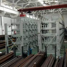 上海悬臂货架厂家 伸缩式管材货架价格 12米管材存放 铜管存放架 材料仓库