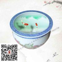 开业礼品陶瓷大缸 时尚摆件陶瓷鱼缸厂家订制 荷花缸