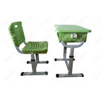 定做升降课桌椅 广东塑钢家具工厂批发价格供应学生学校家具