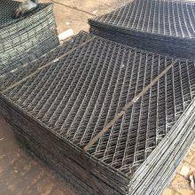 建筑菱形钢笆网、爬架脚踏网、圈边钢笆片 实体厂家欢迎参观