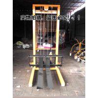 电动叉车装卸搬运堆高车 升降电动堆高机 220伏微型叉车150KG