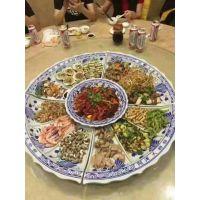 景德镇大海鲜盘批发 80厘米分格瓷盘价格 大口径陶瓷盘定制