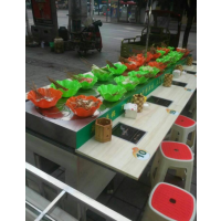 南安涮串吧回转火锅设备 串串香小火锅热销