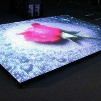 厂家直销 虹美 RGB视频地板砖 走动画程序跳舞地板砖 LED全彩跳舞地板砖 亚克力材质