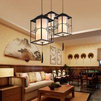 新中式吊灯创意个性圆形餐厅酒店阳台书房灯具