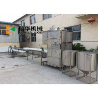 加工冲浆豆腐的设备 自动翻盒冲浆板豆腐机生产视频 大型磨浆系统多少钱