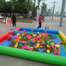 湖南广场孩子玩的12平方决明子充气沙池多少钱一套