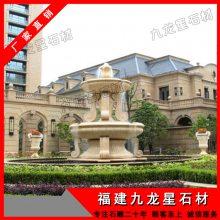 【产品】黄锈石水钵 石雕喷水池 埃及米黄水珐 喷泉 可订做