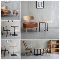 西安咖啡厅实木圆桌设计定做厂家