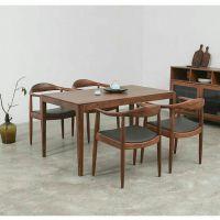 新中式茶桌一套,新中式家具,胡桃木家具一套,实木茶餐桌一套,1.4米现代中式餐桌,现代中式家具