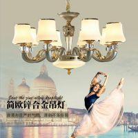 林州市吊灯品牌 水晶吸顶灯 花形全铜吊灯