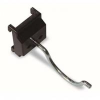信高方孔挂板塑料底座大型圆钩(孔径5mm,L110mm)XDG-010钢质钩