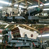 反击式移动石料生产线发往福州 建筑石子粉碎车报价