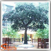 仿真松树 生产松树厂家 仿真迎客松罗汉松定做 玻璃钢假树
