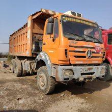 现出售北奔重卡自卸车,转让宽梁大轮边 新款北奔 后八轮自卸车