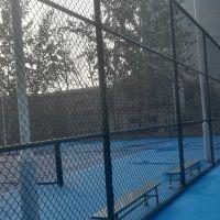 求购护栏网 PVC丝学校用篮球场围网 找厂家 飞创笼式足球场网