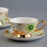 唐山唯奥2017新款咖啡杯碟创意陶瓷咖啡杯 定制骨瓷杯加logo 厂家批发