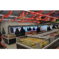 超市速冻岛柜上开口,内蒙古生鲜冷柜厂家,徽点双岛柜冷冻饺子展示柜