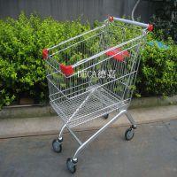 济南德嘉供应超市带凳购物车商场可折叠小推车容积60升80升100升欧式等