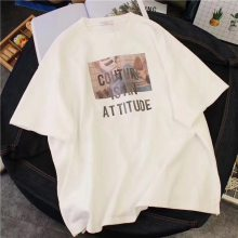 免费代理服装厂家批发 外贸出口低价女装短袖T恤衫批发 便宜女装短袖