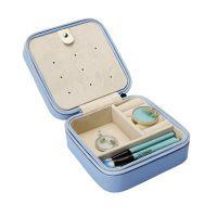 定做便携式PU高档首饰盒皮质 戒指耳钉项链珠宝盒化妆笔收纳盒