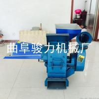 骏力生产2吨型青贮青饲料铡草机青草揉搓机移动型牧草铡草机