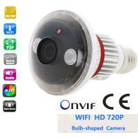 供应 EAZZYDV HD720P 无线 P2P 灯泡式WIFI监控摄像头