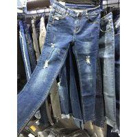 沙河便宜牛仔裤韩版库存服装清货工厂低价便宜清仓便宜小脚牛仔裤