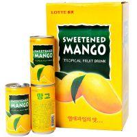 韩国进口饮料 乐天芒果汁饮料180ml果味饮料芒果汁饮料
