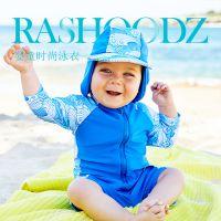 澳大利亚进口 Rashoodz宝宝 儿童长袖 带帽连身泳衣