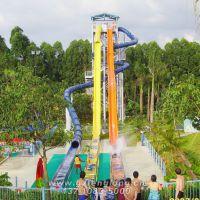 广州热销水上组合滑梯 垂直高速滑梯 玻璃钢滑道