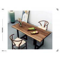 实木大板胡桃木原木电脑桌奥坎大板书桌茶桌巴花餐桌大班台会议桌